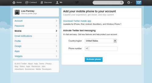 Using Twitter on Your Mobile Device