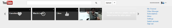 logged into YouTube,