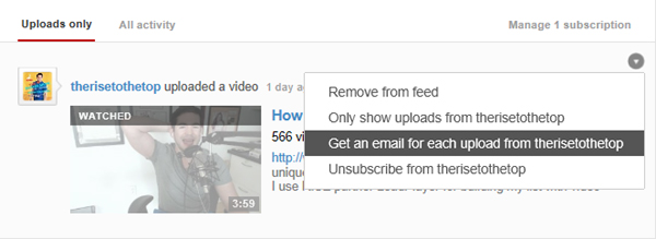 Channel Subscriptions