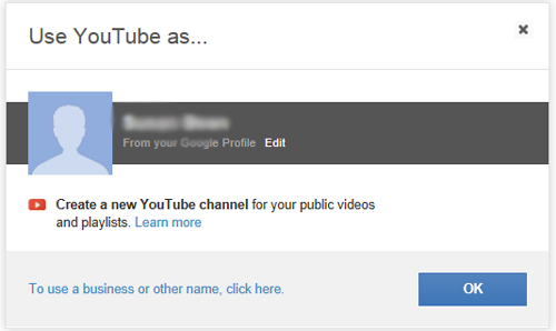 customize your YouTube name