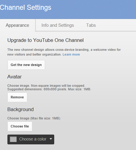 old channel options