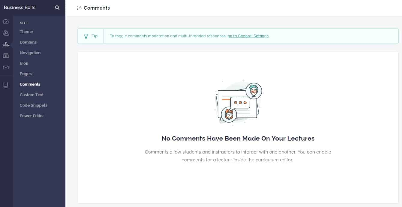 Teachable comments on lectures