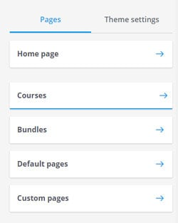 Thinkific page list