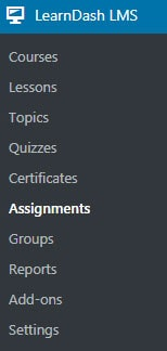 Assignments link.