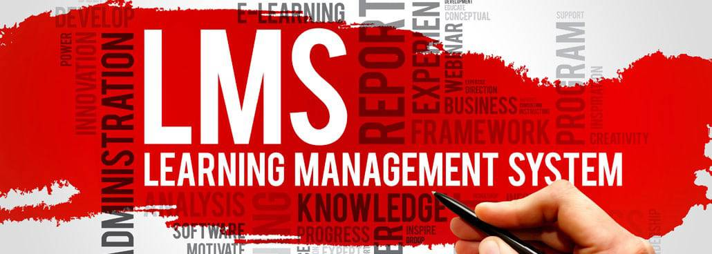 Image with text spelling out LMS and learning management system + more