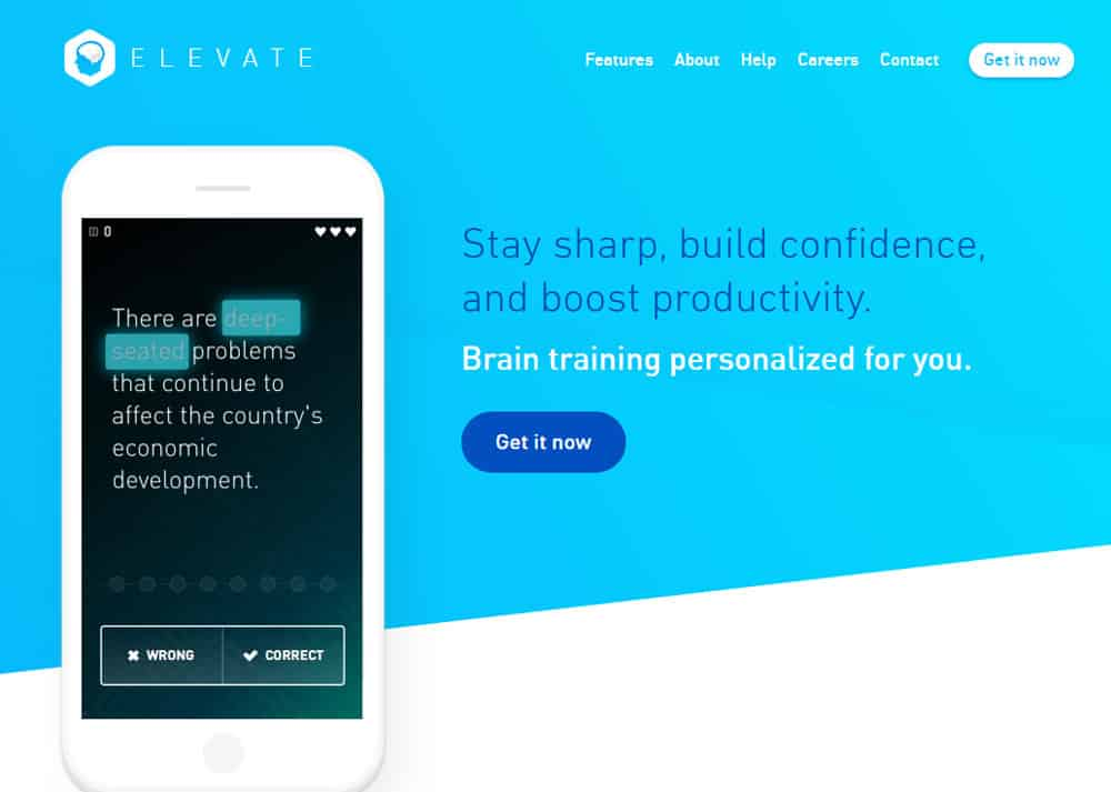 Elevate App Screenshot