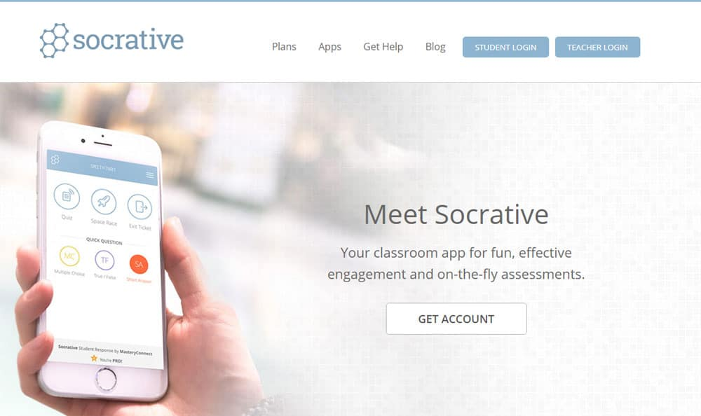 Socrative Screenshot