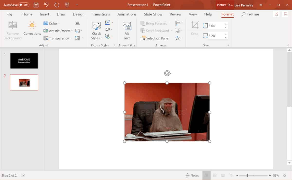 How To Insert A Gif Into Powerpoint Course Method