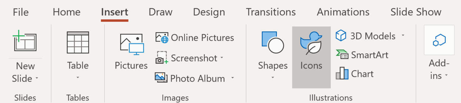 Screenshot of the PowerPoint GIF icon.