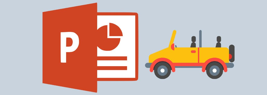 Screenshot of PowerPoint icon with car icon.