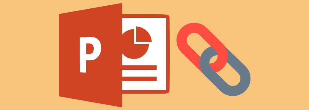 Image with PowerPoint icon and link icon.