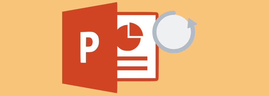 Icon based image with PowerPoint icon and a loop.