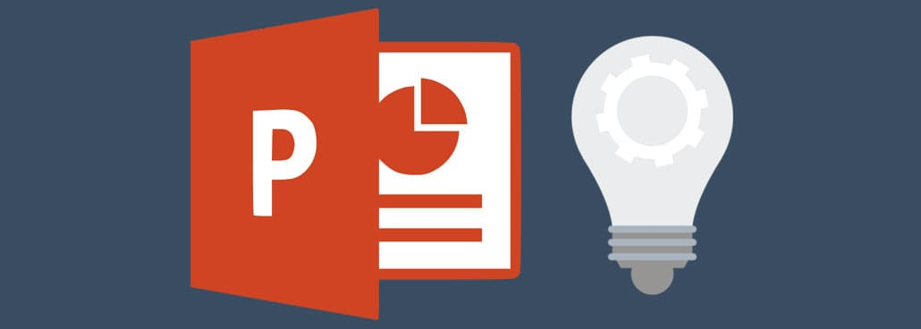Image with PowerPoint icon and light bulb.