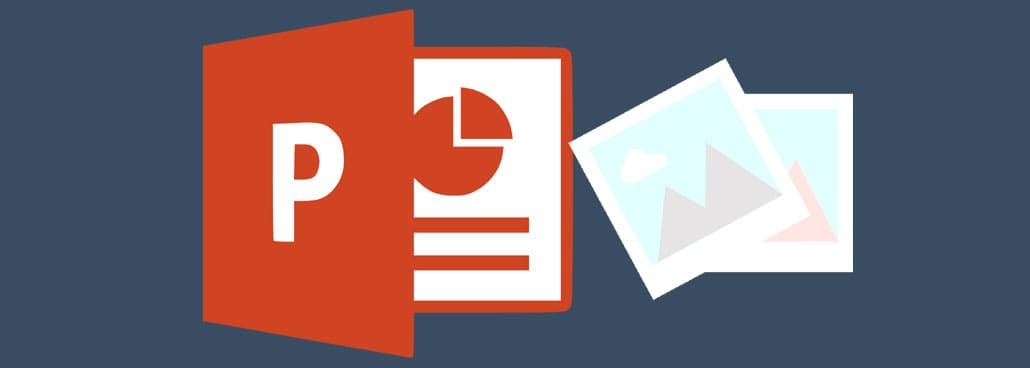 Icon based image with PowerPoint icon and transparent image.