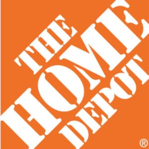 The Home Depot square logo example.
