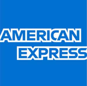 American Express square logo example.