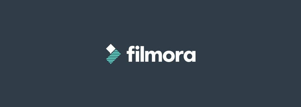 Screenshot of Filmora logo.