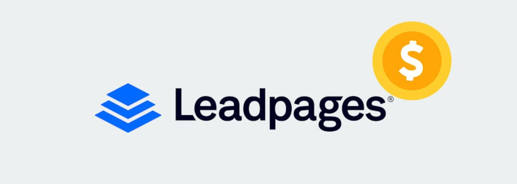 Logo of Leadpages with dollar sign symbol.