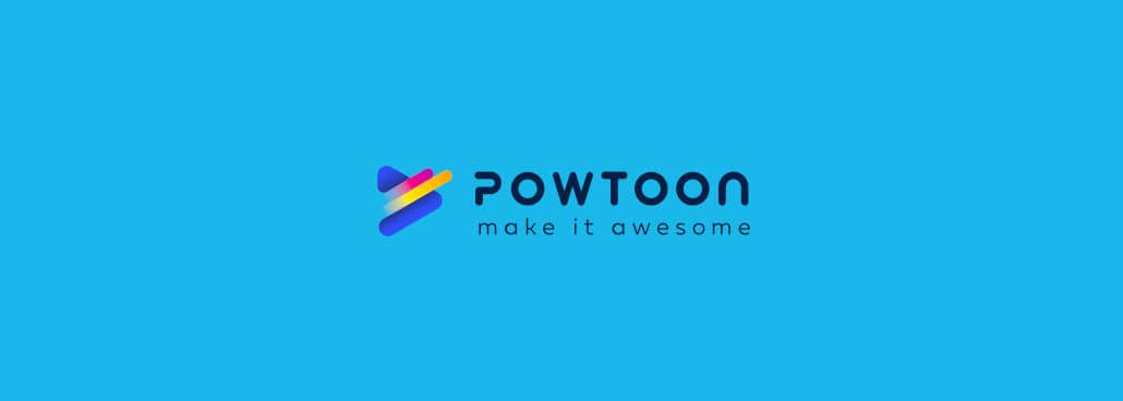 Screenshot of Powtoon logo.