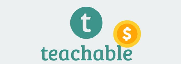Logo of Teachable with dollar sign symbol.