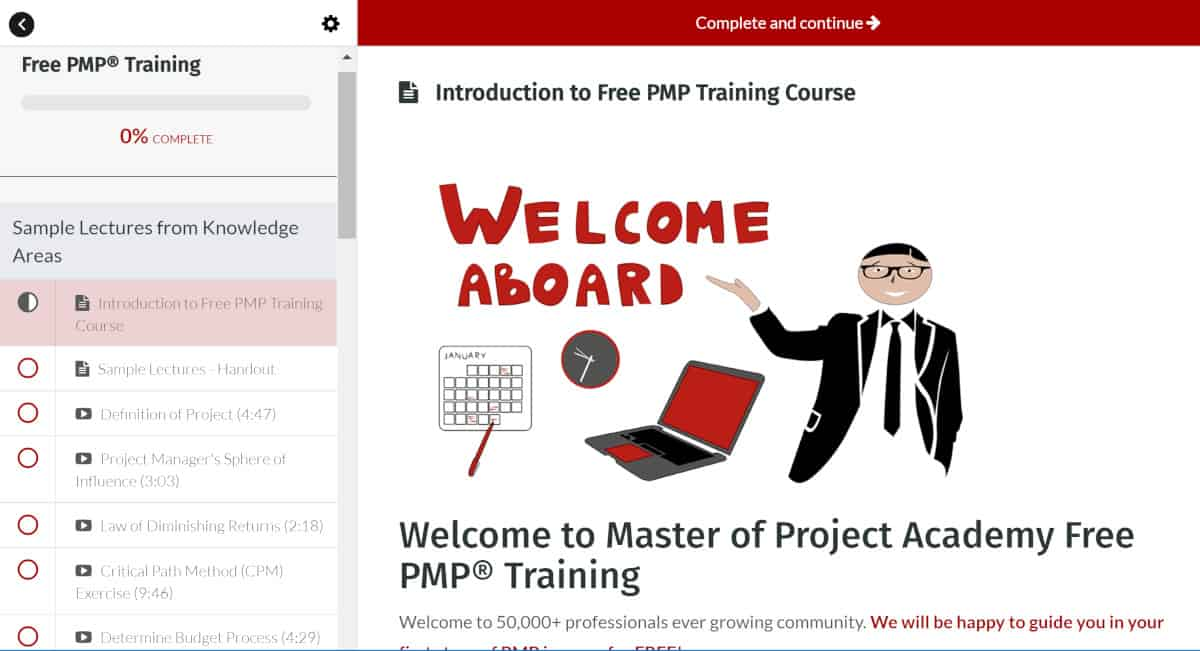 Master of Project Inside Course