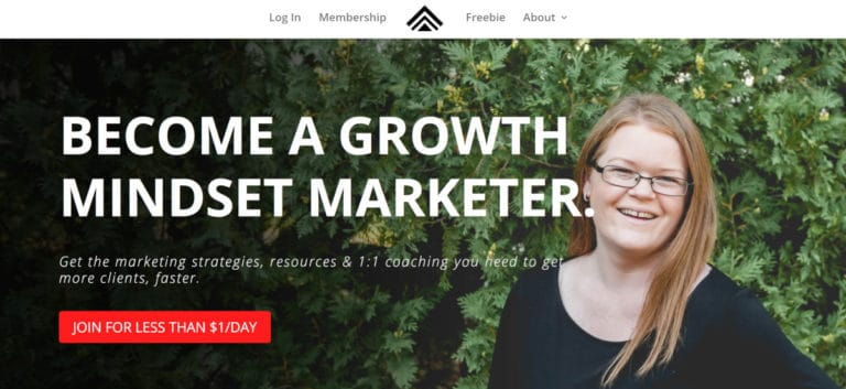 Growth Mindset Marketers Homepage