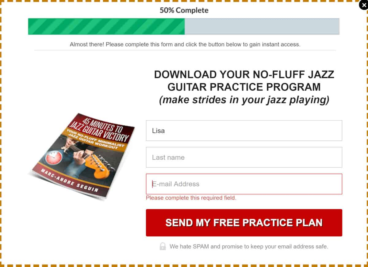 Jazz Guitar Lessons Lead Magnet