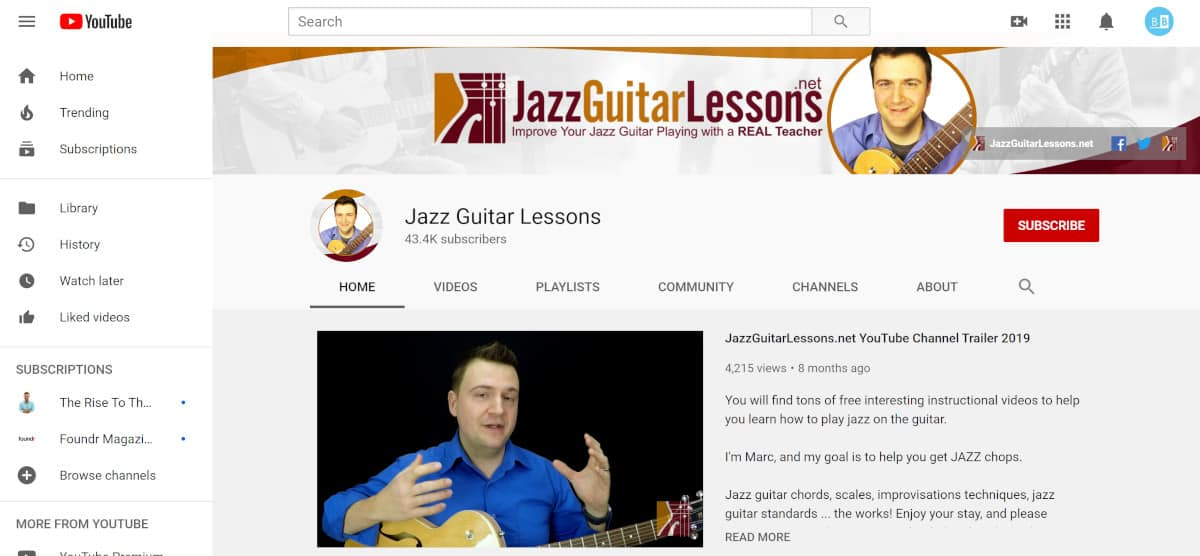 Jazz Guitar Lessons YouTube