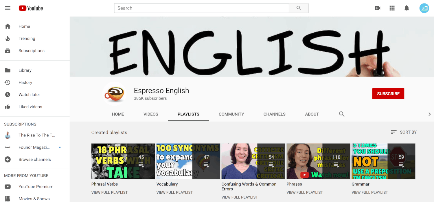Espresso English YouTube