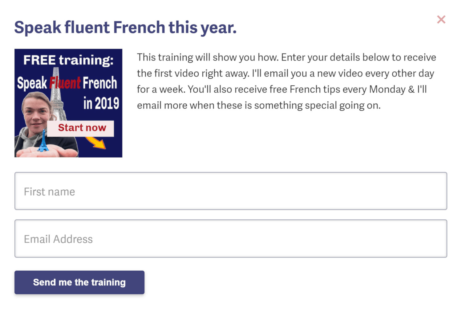 French Fluency Lead Magnet