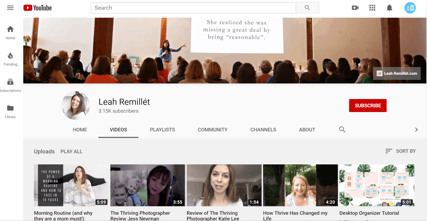 Leah Remillet YouTube