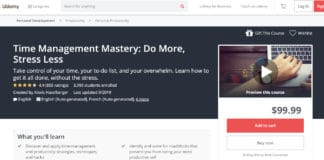 Udemy Time Management Course