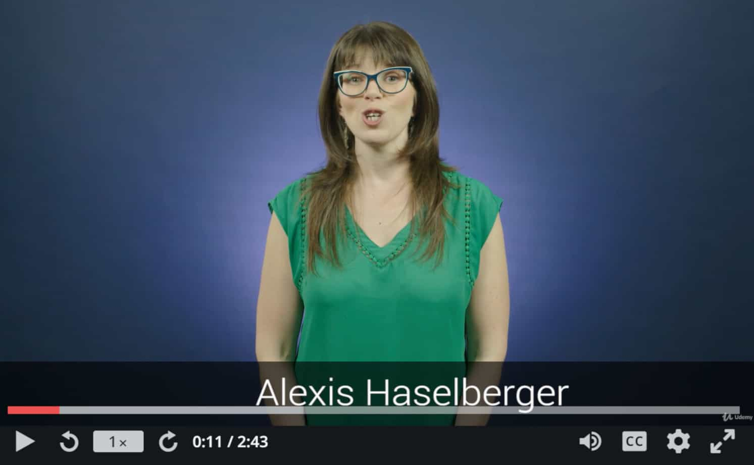 Alexis Haselberger Udemy Video