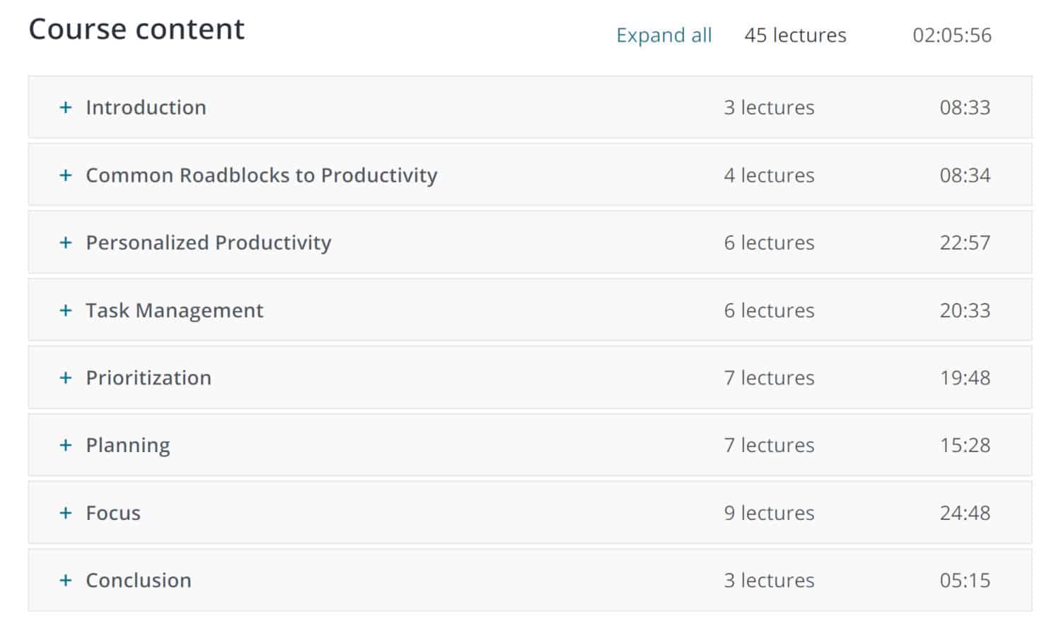 Alexis Haselberger Udemy Course Outline