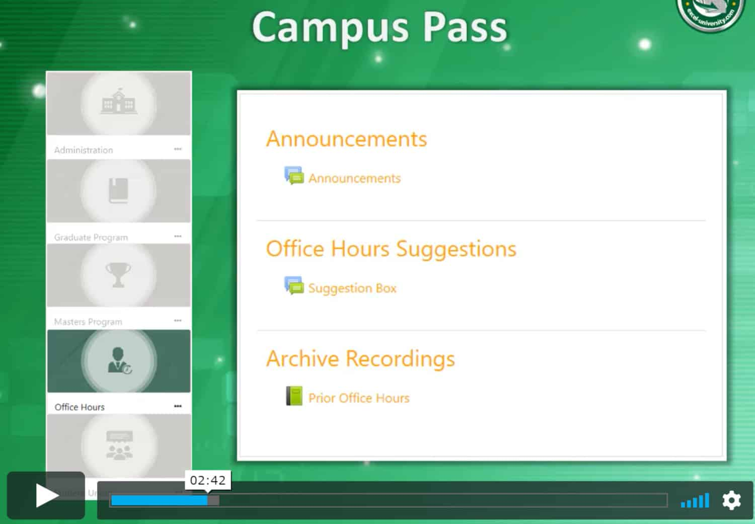 excel-university.com Campus Pass