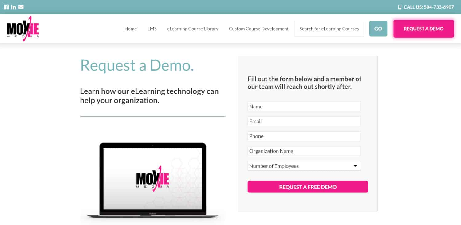 Moxie Learning Sign up