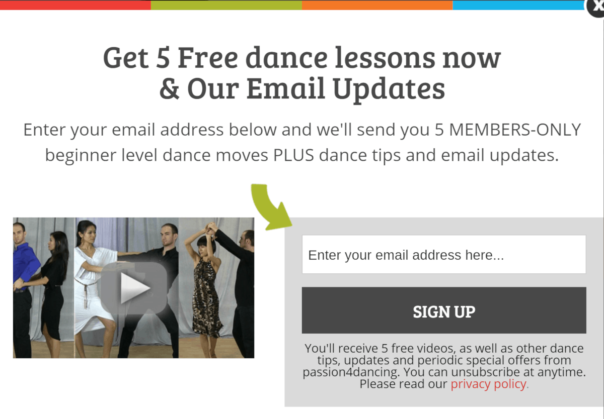 Passion4dancing.com free lessons