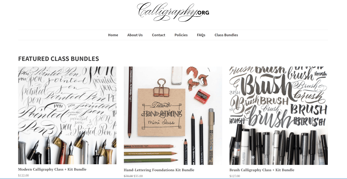 calligraphy.org courses
