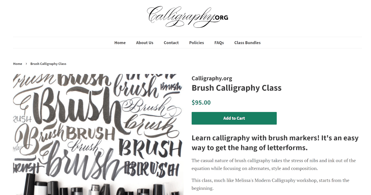 calligraphy.org course example