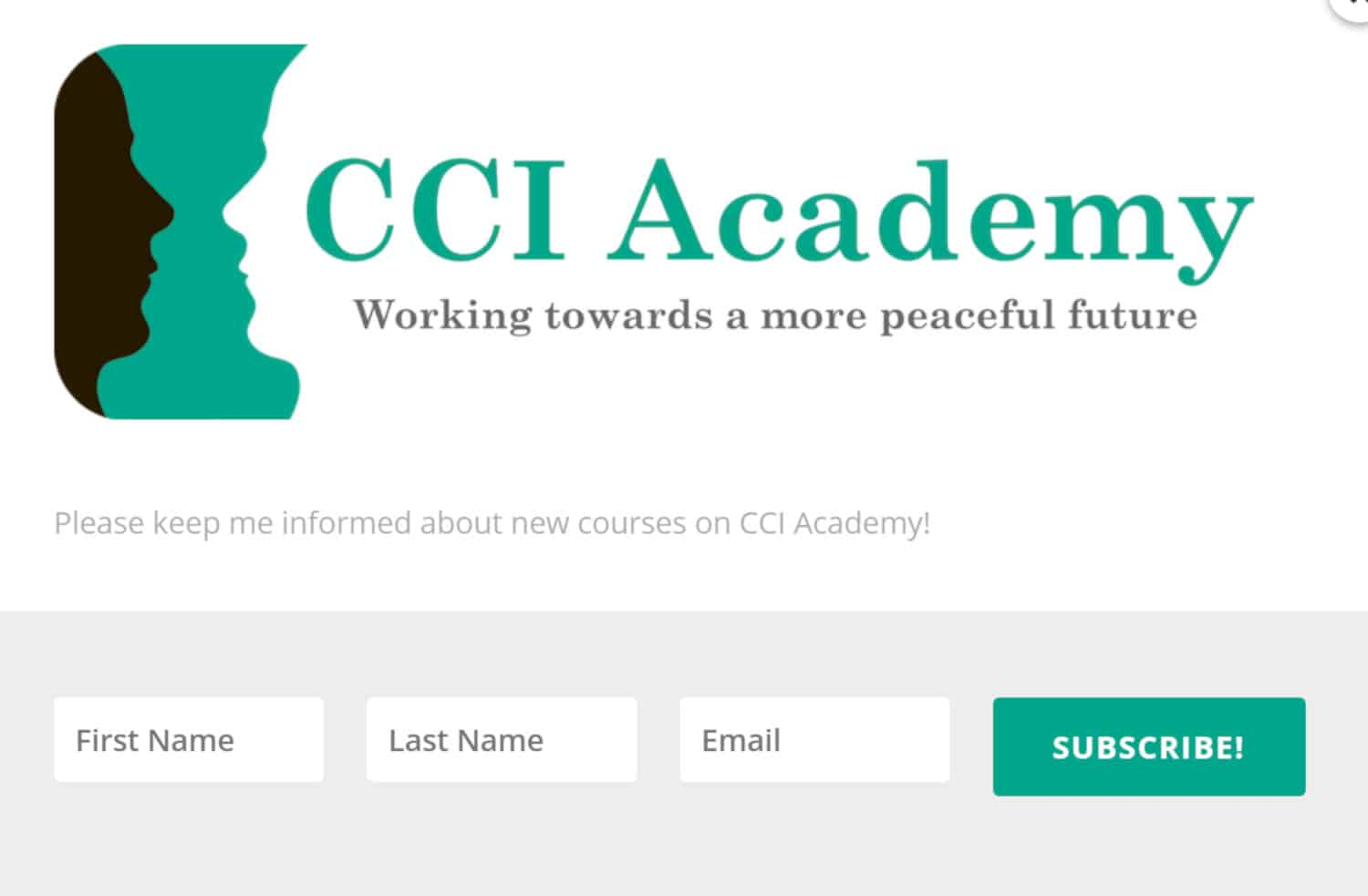 CCI Academy Signup