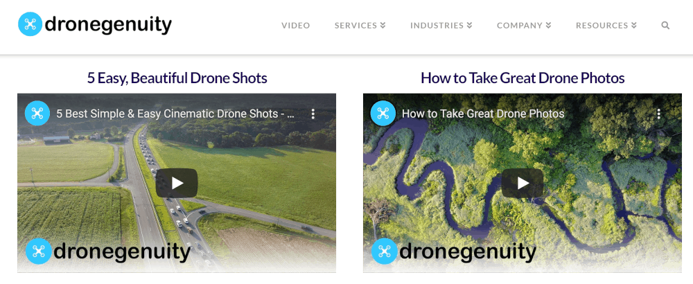dronegenuity.com detailed tutorials