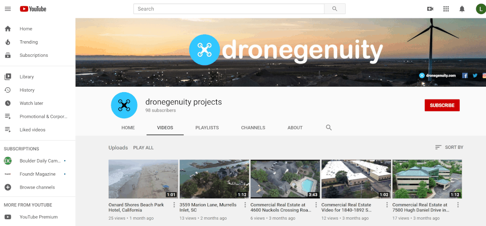 dronegenuity.com YouTube