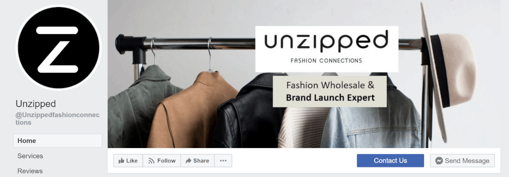 unzipped.co facebook page