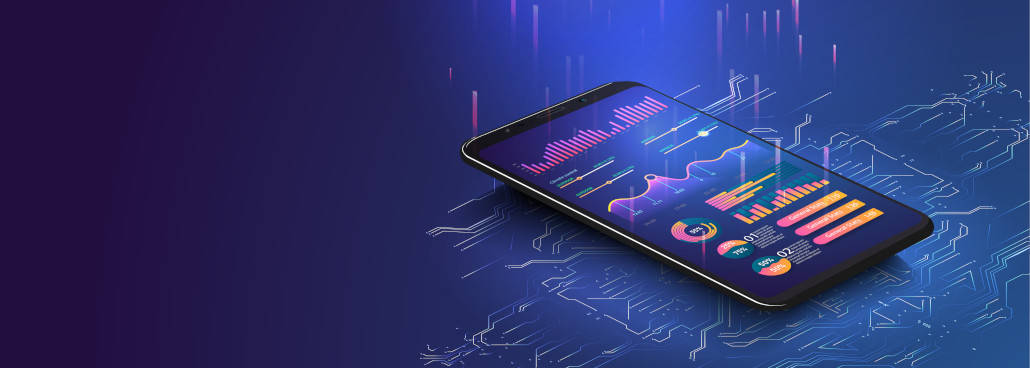 mobile phone with cool background