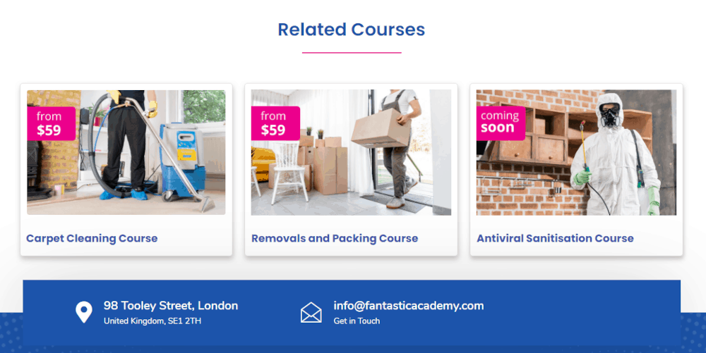 Fantastic Academy related courses