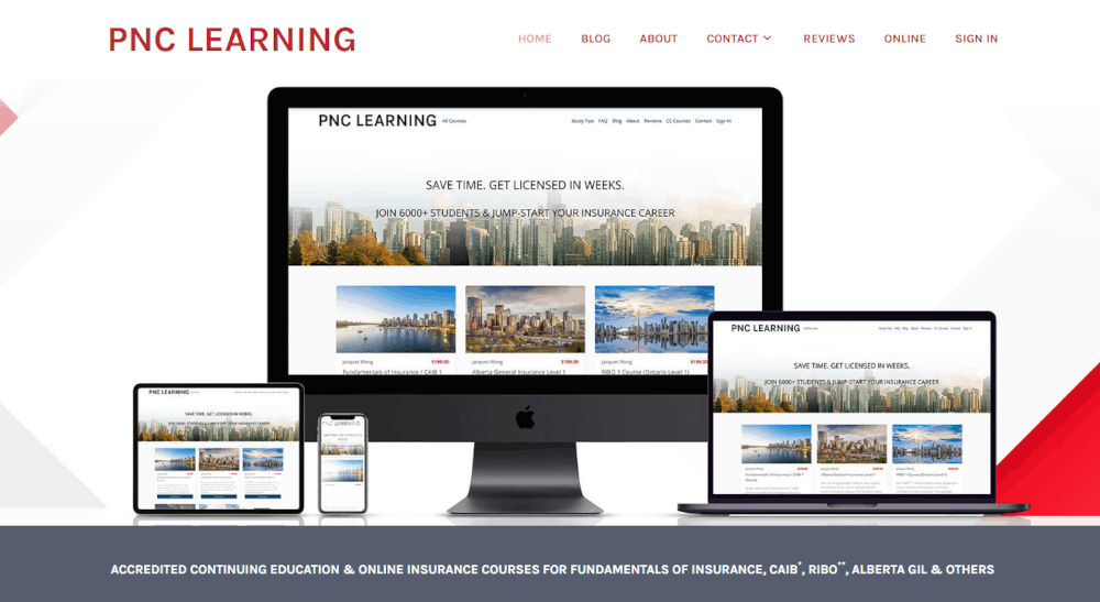 pnclearning.com homepage