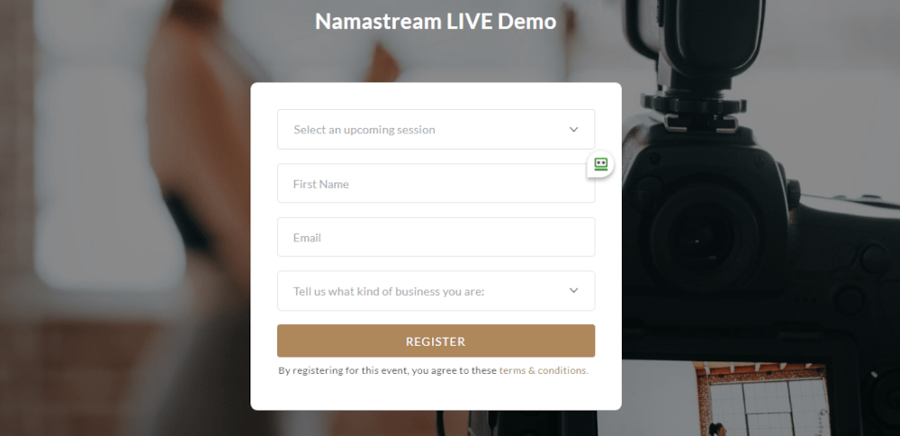 Namastream opt-in
