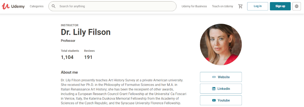 Dr Lily Filson's site