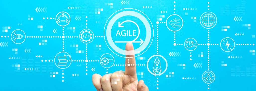 cool graphic with word agile in middle
